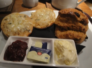 Welsh Rarebit and a Scone