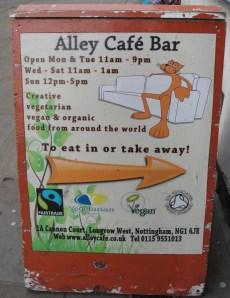 Alley Cafe Sandwich Board
