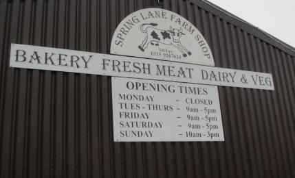 Spring Lane Farm Shop