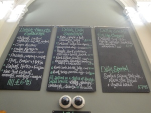 delilah chalkboard menu