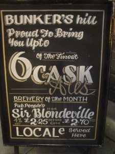 Bunkers Hill Beer Board