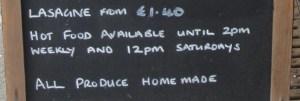 Rose Cafe Lasgane offer