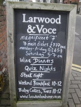 Larwood and Voce Chalkboard
