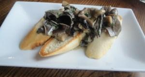 Mushrooms in Stilton sauce on toast