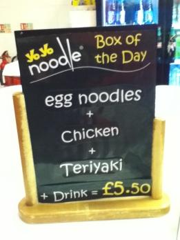 Todays Special at Yo Yo Noodle