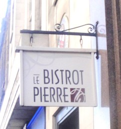 Le Bistro Pierre Sign