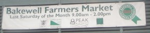 Bakewell Farmers Market Sign