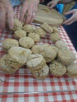 Soda Bread Chive Scones