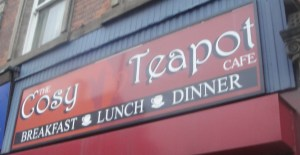 Cosy Teapot Cafe Sign