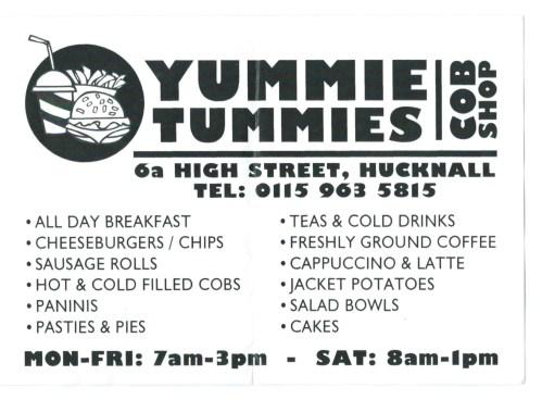 Yummie Tummies Flyer