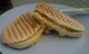 Chicken, Bacon, Cheese Panini