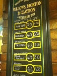 Fellows Beer Menu