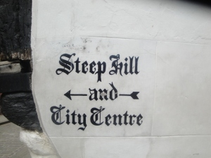 Lincoln Steep Hill Sign