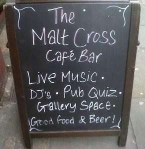 Malt Cross Chalk Board
