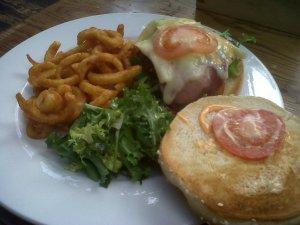 Malt Cross Bacon and Brie Burger