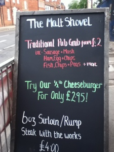 The Malt Shovel Chalkboard