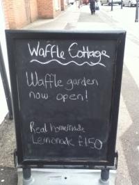 Waffle Cottage Signboard