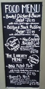 Prince Rupert Food Chalkboard