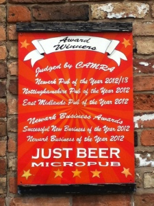 Just Beer Sign
