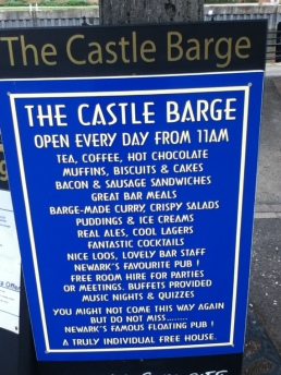 The Castle Barge Sign