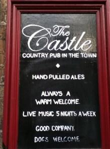 The Castle Pub Chalkboard