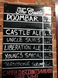 Castle Beer Chalkboard