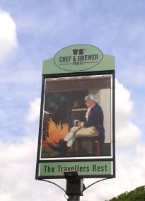 Travellers Rest Sign