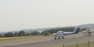 Helicopter at Tollerton Airport