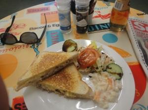Tuna Melt Toastie at Chocks Away
