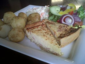 Quiche and Salad at Edwalton