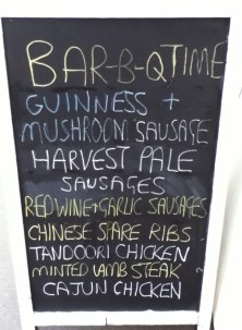 Ruddington Village Butchers Chalkboard