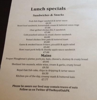 Royal Oak Lunch Specials