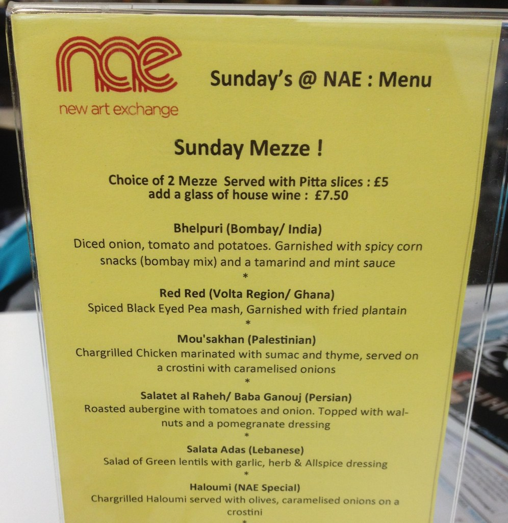 Sunday Meze Menu at NAE