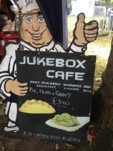Jukebox cafe sign