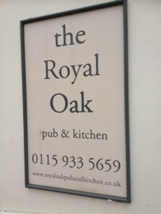 The Royal Oak Sign