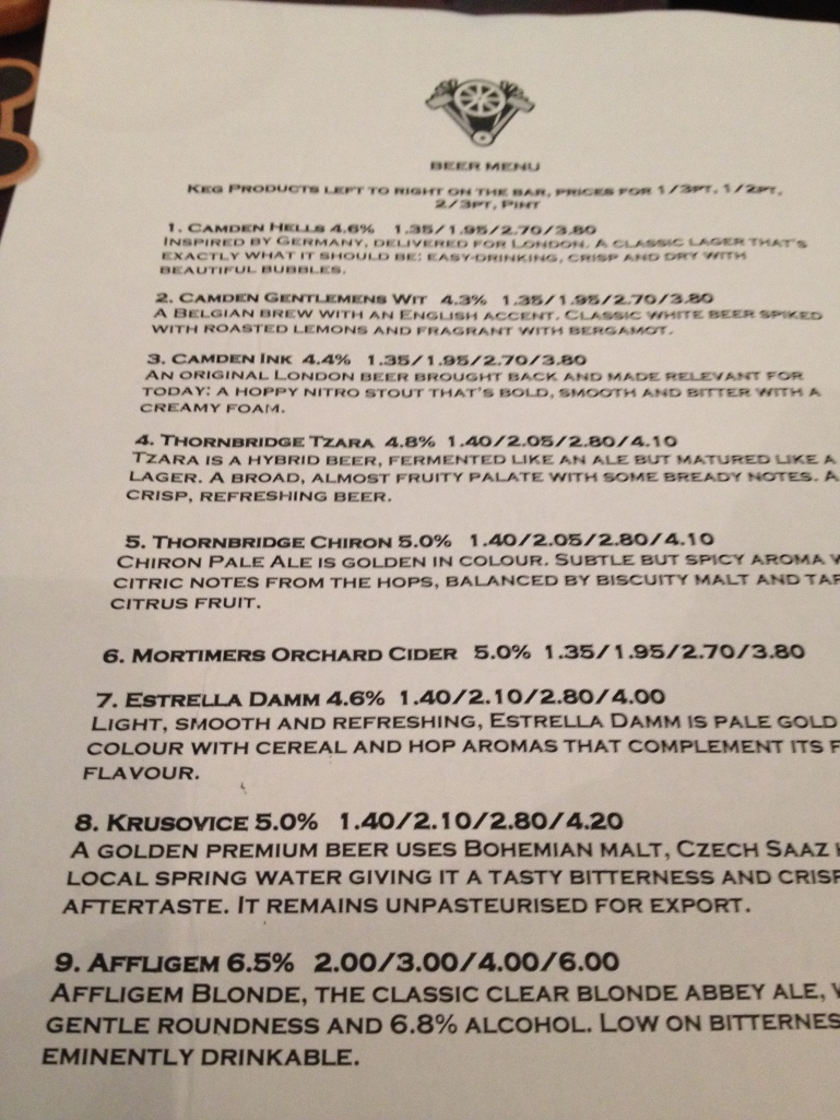Ned Ludd Beer List Part 1