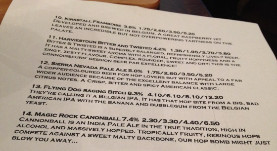 Part 2 Ned Ludd Beer Menu