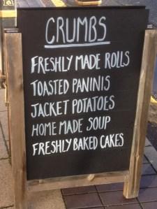 Crumbs Sign board