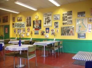 Inside cafe 67