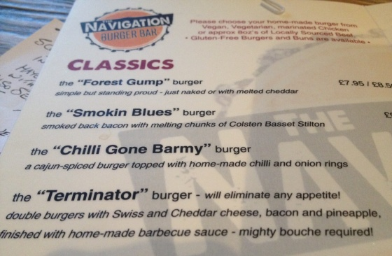 Classics Menu section