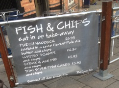 Fish and Chip Sign