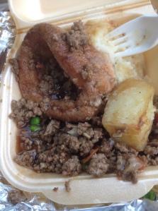 Half Way through Mince Beef  Casserole