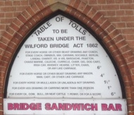 The Bridge Sandwich Bar in the Old Toll Booth by the River atWilford