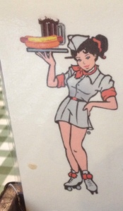 Diner Girl Cartoon