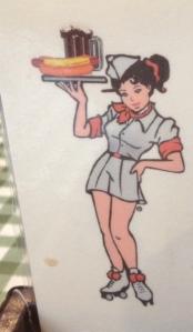 Diner Girl Cartoon