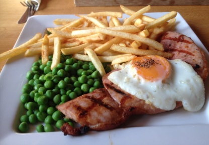 Gammon Egg and Chips at Oscars