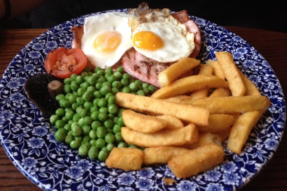 Gammon Egg and Chips at Trent Bridge Inn