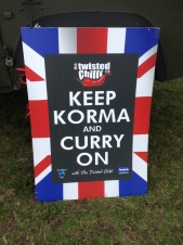 Keep Korma and Curry On Sign