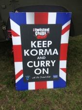 Keep Korma and Curry On Sign
