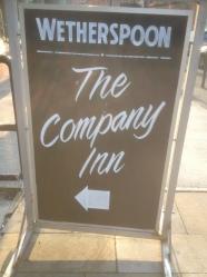 The Company Inn Chalk Board
